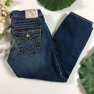 True Religion Capri Jeans. Size 25